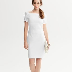 Knit structured dress